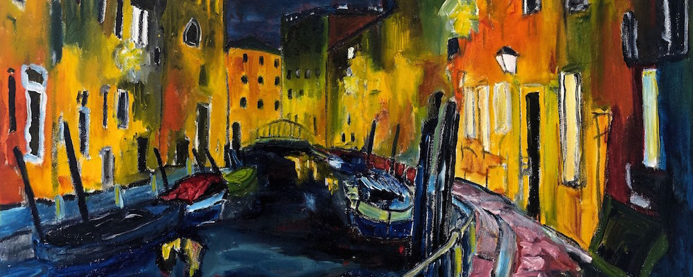 Abends im Dorsoduro, Venedig