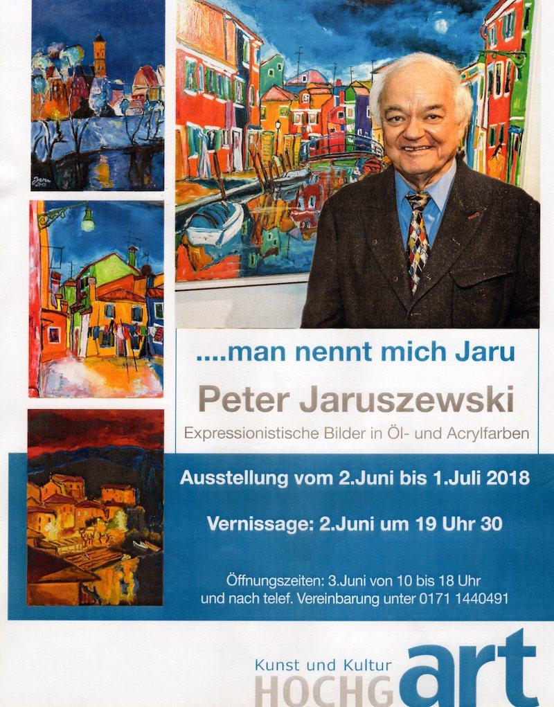 02. Juni 2018: Vernissage zur Ausstellung <br /> <strong> '… man nennt mich Jaru' </strong><br /> in der Galerie Hochgart in Gotteszell.