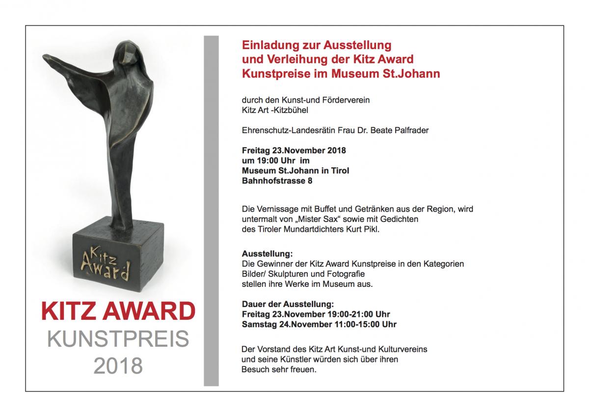 Am 23. November 2018 gewann Peter Jaru von 300 Teilnehmern im Bereich Malerei den 9. Preis beim KITZ ART AWARD 2018 in Kitzbühel.