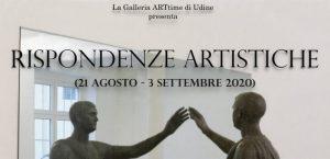 """21. August – 3. September 2020: JARU stellt vier Bilder in der Ausstellung """"Rispondenze Artistiche"""" der Galleria ARTtime in Udine aus."""